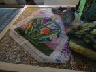 Jar & embroidered version (through glass)